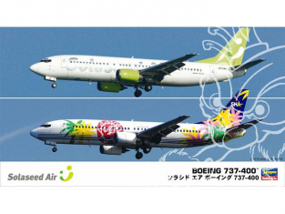 HASEGAWA maquette avion 10694 Solaseed Air Boeing 737-400 (2 kits) Limited Edition 1/200