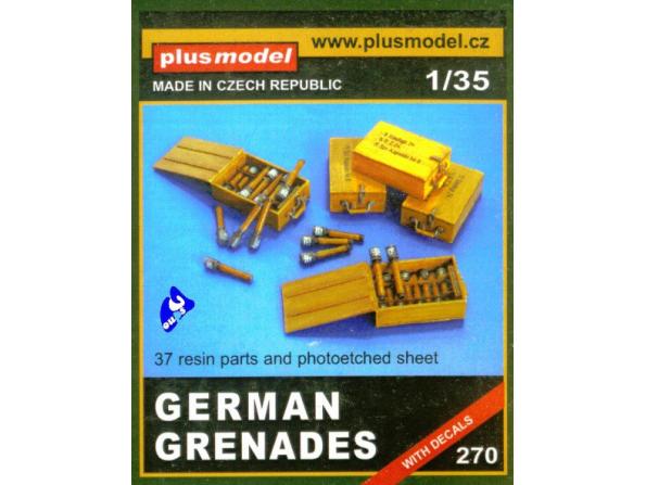 Plus Model 270 CAISSES DE GRENADES ALLEMANDES 1/35