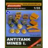 Plus Model 272 MINES ANTI CHAR ET CAISSES ALLEMANDES 1/35