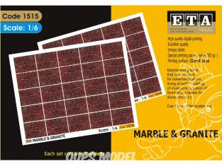 ETA accessoires diorama 1515 Imprimé immitation Marbre et granit 1/6