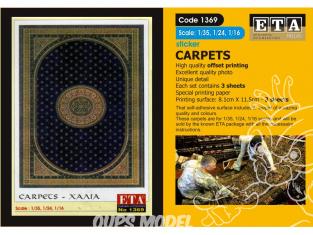 ETA diorama 1369 Imprimé Tapis Sticker 1/35 - 1/24 - 1/16