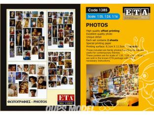 ETA diorama 1385 Imprimé Photos civil 1/35 - 1/24 - 1/16