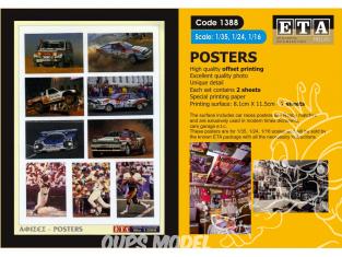 ETA diorama 1388 Imprimé Posters sport 1/35 - 1/24 - 1/16