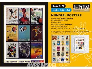 ETA diorama 1374 Imprimé Posters Coupe du monde de Football 1/35 - 1/24