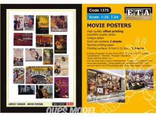 ETA diorama 1375 Imprimé Posters films 1/35 - 1/24