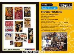 ETA diorama 1376 Imprimé Posters films 1/35 - 1/24