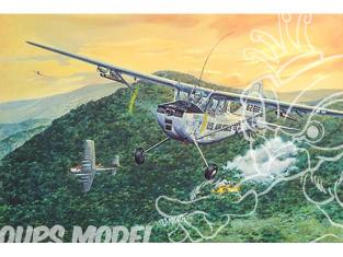 roden maquette avion 619 CESSNA L-19/O-1 BIRD DOG USAF (GUERRE DU VIETNAM 1968) 1/32