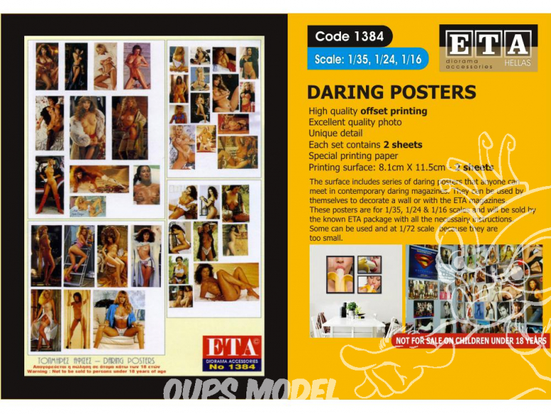 ETA diorama 1384 Imprimé Posters Porno 1/35 - 1/24 - 1/16