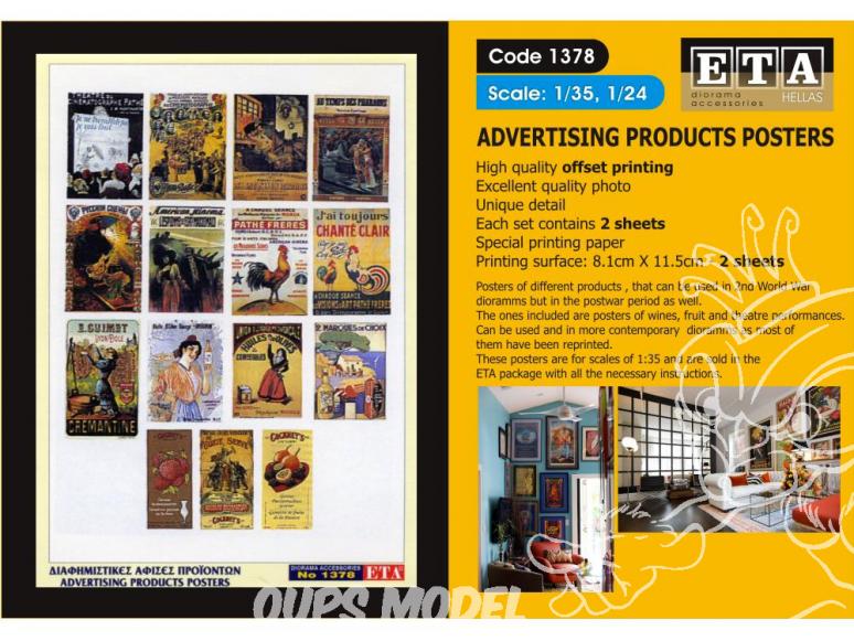 ETA diorama 1378 Imprimé Affiches publicitaires 1/35 - 1/24