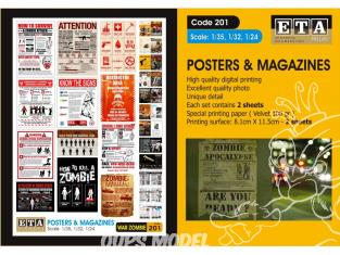 ETA diorama 201 Imprimé Posters & Magazines - Zombi 1/35 - 1/32 - 1/24