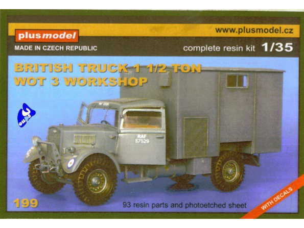 Plus Model 199 FORDSON WOT 3 1/35