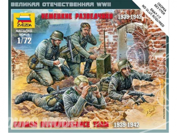Zvezda maquette plastique 6153 escouade de reconnaissance allemande 1/72