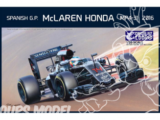 Ebbro maquette voiture 018 McLaren Honda MP4-31 2016 GP d'espagne 1/20