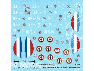 Decalques Berna decals BD144-14 Curtis SB2C-5 Helldiver 1/144