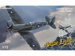 EDUARD maquette avion 2119 Aussie Eight Spitfire Mk.VIII en service Australien Dual Combo Serie Limitée 1/72