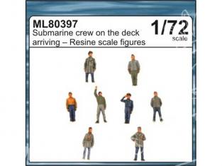 CMK figurine ml80397 EQUIPAGE DE U-BOAT SUR LE PONT A L ARRIVEE AU PORT 1/72