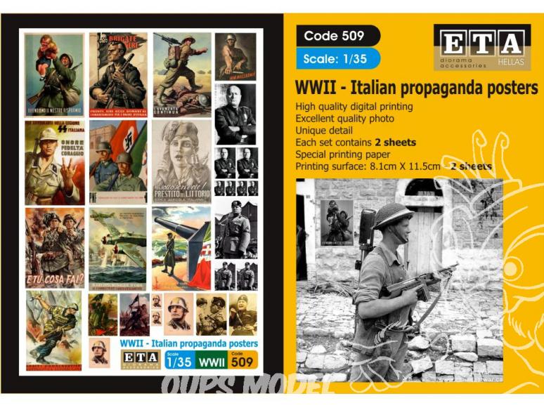 ETA diorama 509 Imprimé Affiches - Posters Propagande Italienne WWII 1/35