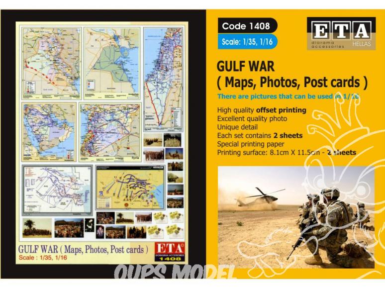 ETA diorama 1408 Guerre du Golfe (Cartes - Photos - Cartes postales) 1/35 - 1/24 - 1/16