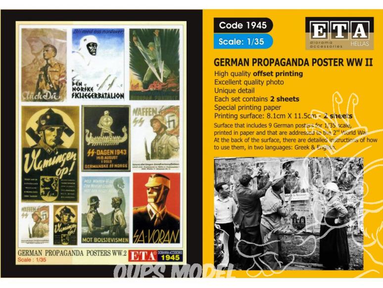 ETA diorama 1945 Imprimé Affiches - Posters Propagande Allemande WWII 1/35
