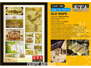 ETA diorama 1402 Imprimé Cartes anciennes 1/35 - 1/48 - 1/72 - 1/76