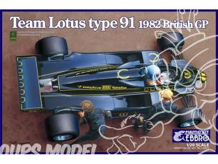 Ebbro maquette voiture 012 Lotus Type 91 1982 1/20