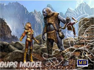 Master Box maquette figurines 24011 CECI EST MON TERRITOIRE!!! - WORLD OF FANTASY KIT N°3 1/24