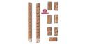 Constructo 80201 Escalier bois 70mm
