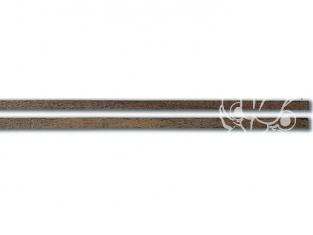 Constructo 80167 10 baguettes de plaquage mansonia marron foncé 0,5 x 4 x 1000