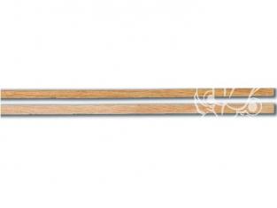 Constructo 80165 10 baguettes de plaquage Mukali brun rosacé 0,5 x 4 x 1000