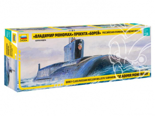 Zvezda maquette sous marin 9058 Russian Nuclear Submarine Borey-class 1/350