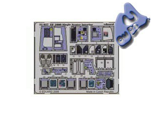 EDUARD photodecoupe 33037 INTERIEUR EF2000 SINGLE SEATER 1/32