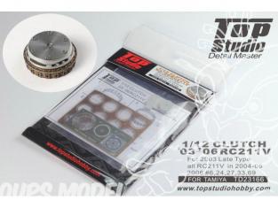 Top Studio amélioration TD23166 Cloche d'embrayage RC211V 2002 a 2006 1/12