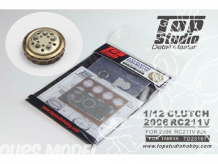 Top Studio amélioration TD23167 Cloche d'embrayage RC211V 2006 pour Tamiya 1/12