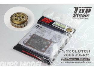 Top Studio amélioration TD23168 Cloche d'embrayage ZX-RR 2006 pour kit Tamiya 1/12
