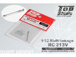 Top Studio amélioration TD23173 Commande de changement de vitesse RC213V pour kit Tamiya 1/12