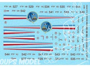 DECALQUES BERNA DECALS BD48-129 Fouga CM 170 Patrouille de france 1/48