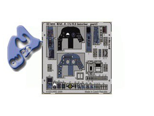 EDUARD photodecoupe 32635 INTERIEUR BAC LIGHTNING F.1A/F.3 1/32