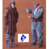 CMK figurine 48025 PILOTE DE CHASSE ET OFFICIER ALLEMAND 1/48