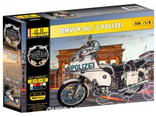Heller maquette moto 52993 Coffret Complet Bmw R-60/5 Polizei 1/8