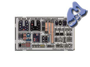 EDUARD photodecoupe 32652 INTERIEUR KI-44 SHOKI 1/32