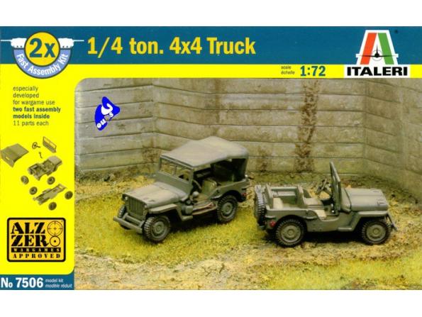 Italeri maquette militaire 7506 Jeep 1/4 Ton 1/72