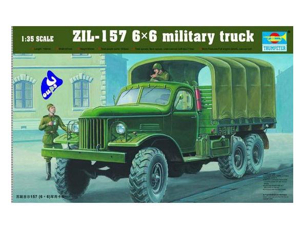 Trumpeter maquette militaire 01001 CAMION SOVIETIQUE ZIL-157 6X6