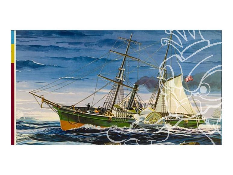 Lindberg maquette bateau HL401 Bateau guerre civile americaine 1/124