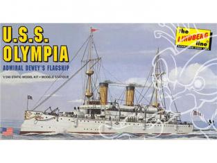 Lindberg maquette bateau HL402 Croiseur USS Olympia (C-6) 1/240