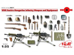 Icm maquette militaire 35671 Armement et equipement Infanterie Austro-Hongroise WWI 1/35