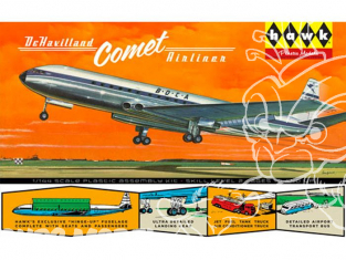 HAWK maquette avion HL512 British Jetliner DeHavilland Comet 1/144