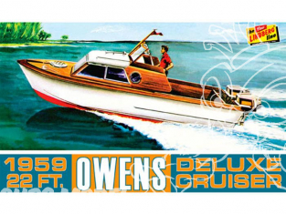 Lindberg maquette bateau HL222 Owens Outboard Cruiser Boat 1/25
