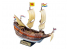 Lindberg maquette bateau HL208 Bateau a voiles Half Moon 1/170