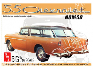 AMT maquette voiture 1005 1955 Chevy Nomad Wagon 1/16