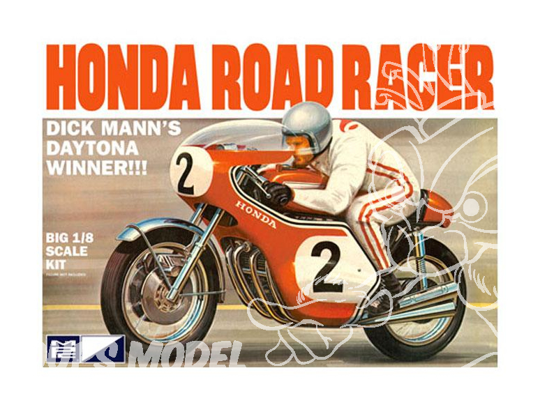 MPC maquette moto 856 Dick Mann Honda 750 Road Racer Motorcycle 1/8